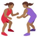 Women Wrestling, Type-5 on Twitter Twemoji 2.2.1