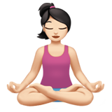 Person in Lotus Position: Light Skin Tone on Apple iOS 11.1
