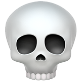 Skull on Apple iOS 11.1