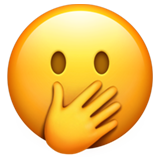 Face With Hand Over Mouth on Apple iOS 11.1