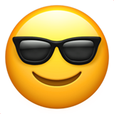 Smiling Face With Sunglasses on Apple iOS 11.1