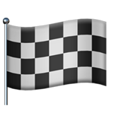 Chequered Flag on Apple iOS 11.2