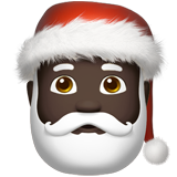 Santa Claus: Dark Skin Tone on Apple iOS 11.2