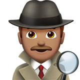 Man Detective: Medium Skin Tone on Apple iOS 11.2