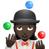 Woman Juggling: Dark Skin Tone on Apple iOS 11.2