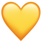 Yellow Heart on Apple iOS 11.2