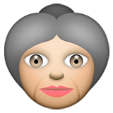 Old Woman on Apple iOS 5.1