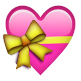 Heart With Ribbon on Apple iOS 6.0