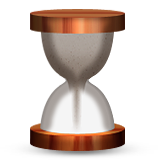 Hourglass With Flowing Sand on Apple iOS 6.0