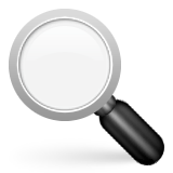 Left-Pointing Magnifying Glass on Apple iOS 6.0