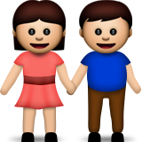 Man and Woman Holding Hands on Apple iOS 6.0