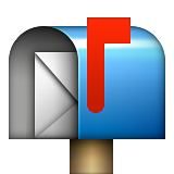 Open Mailbox With Raised Flag on Apple iOS 6.0