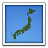 Map of Japan on Apple iOS 6.0