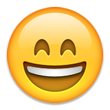 Grinning Face With Smiling Eyes on Apple iOS 9.0