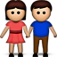 Man and Woman Holding Hands on Apple iOS 5.0