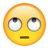 Face With Rolling Eyes on Apple iOS 9.1