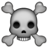 Skull and Crossbones on Apple iOS 9.1