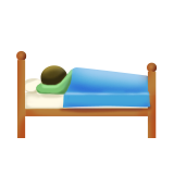 Person in Bed on Apple iOS 9.1