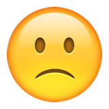 Slightly Frowning Face on Apple iOS 9.1