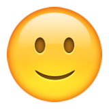 Slightly Smiling Face on Apple iOS 9.1