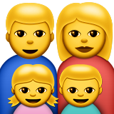 Family: Man, Woman, Girl, Boy on Apple iOS 8.3