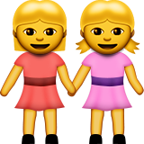 Two Women Holding Hands on Apple iOS 8.3