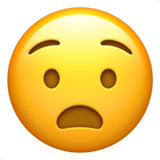 Anguished Face on Apple iOS 10.0