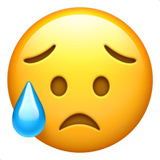 Disappointed but Relieved Face on Apple iOS 10.0