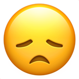 Disappointed Face on Apple iOS 10.0