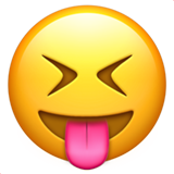 Face With Stuck-Out Tongue & Closed Eyes on Apple iOS 10.0