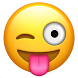 Face With Stuck-Out Tongue & Winking Eye on Apple iOS 10.0