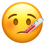 Face With Thermometer on Apple iOS 10.0
