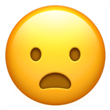 Frowning Face With Open Mouth on Apple iOS 10.0