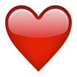 ️ Red Heart Emoji on Apple iOS 10.0