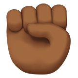 Raised Fist: Medium-Dark Skin Tone on Apple iOS 10.0