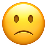 Slightly Frowning Face on Apple iOS 10.0
