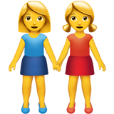 Two Women Holding Hands on Apple iOS 10.0