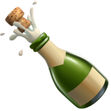 Bottle With Popping Cork on Apple iOS 10.2