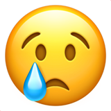 Crying Face on Apple iOS 10.2