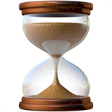 Hourglass With Flowing Sand on Apple iOS 10.2