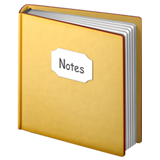 Notebook With Decorative Cover on Apple iOS 10.2