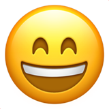 Smiling Face With Open Mouth & Smiling Eyes on Apple iOS 10.2