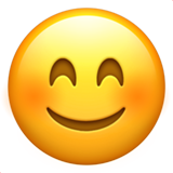 Smiling Face With Smiling Eyes on Apple iOS 10.2