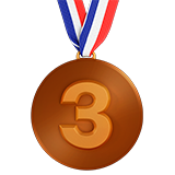 3rd Place Medal on Apple iOS 10.2