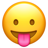 Face With Stuck-Out Tongue on Apple iOS 10.3