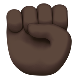 Raised Fist: Dark Skin Tone on Apple iOS 10.3