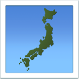 Map of Japan on Apple iOS 10.3