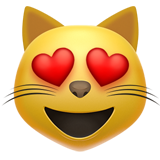 Smiling Cat Face With Heart-Eyes on Apple iOS 10.3