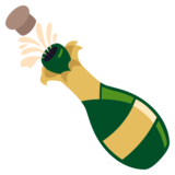 Bottle With Popping Cork on EmojiOne 3.1