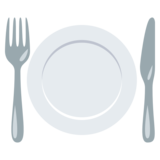 Fork and Knife With Plate on EmojiOne 3.1
